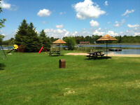 2-bdrm NEW cottage  4-11July Pigeon Lake. Fishing, beach, pool+