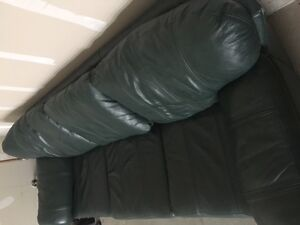 Green Leather Couch For Sale London Ontario image 4