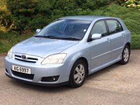 toyota corrola 1.6 vvt-i collection 5 dr 78000 miles excellent condition