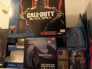 Playstation 4 avec 2 jeux 2 manette 1 casque Sony comme neuf