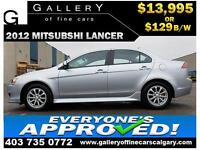 2012 Mitsubishi Lancer SE $129 bi-weekly APPLY NOW DRIVE NOW