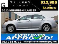 2012 Mitsubishi Lancer SE $129 bi-weekly APPLY NOW DRIVE NOW