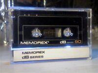 MEMOREX DB 90 (1985-1986) CASSETTE TAPES.