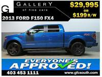 2013 FORD F150 FX4 CREW *EVERYONE APPROVED* $0 DOWN $199/BW!