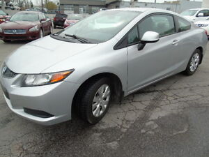 2012 Honda Civic  LX 2 DOOR WITH AIR,POWER GROUP WE FINANCE!!