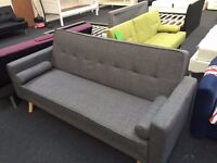 New Un Boxed Sofa Beds Bluetooth Speakers Fabric Faux Leather Warehouse