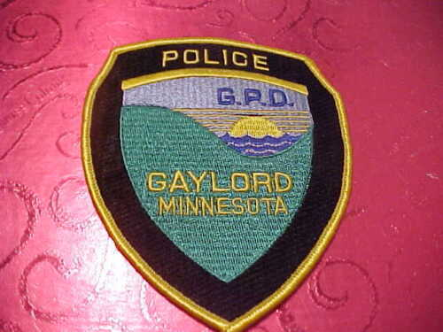 GAYLORD  MINNESOTA POLICE PATCH SHOULDER SIZE UNUSED