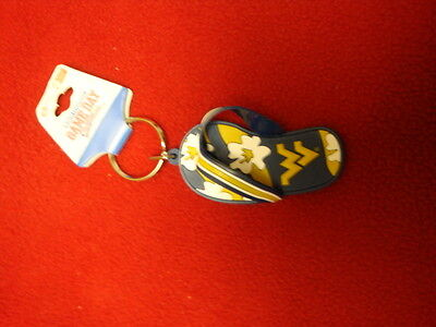 WEST VIRGINIA MOUTAINEERS FLIP FLOP KEYCHAIN