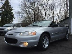 2002 CHRYSLER SEBRING LIMITED CONVERTIBLE + CUIR + AUTOMATIQUE