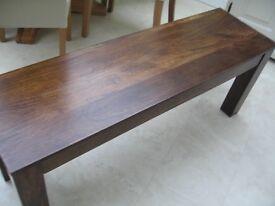 Solid Mango Wood Bench