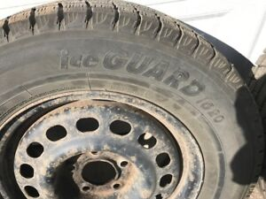 JUST REDUCED!  Set of 4 Yokohama Ice Guard tires on rims