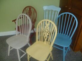 £30 PER CHAIR - Shabby Chic up-cycled chairs in different colour's & different styles