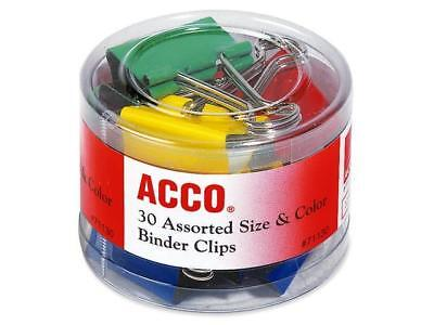 Acco 71130 Colored Binder Clips - Assorted - Assorted ()