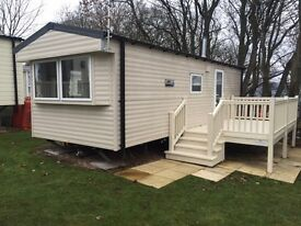 2016 WILLERBY STATIC CARAVAN YORKSHIRE DALES WITH DECKING