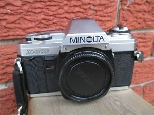 Minolta X370 & MD Manual focus camera + flash in Good condition
