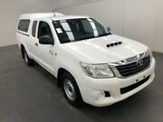 2013 Toyota Hilux KUN16R MY14 SR XTRA CAB 4X2 Glacier White Manual Freestyle Utility Moonah Glenorchy Area Preview