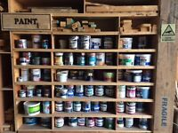 tubs of paint