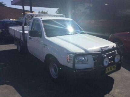 2008 Ford Ranger PJ XL White Manual Cab Chassis Boolaroo Lake Macquarie Area Preview