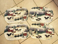 Cow pattern placemats