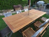 Hardwood Garden set with many extras EXCELLENT CONDITION