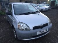 Toyota Yaris 1 litre, starts and drives well, MOT until July 2017, cheap insurance, car located in G