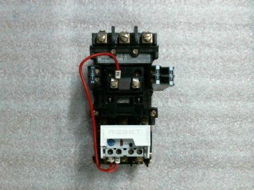 Allen Bradley 509-B0D-A2F Ser B Size 1 Starter w/ 592-A2FA Overload 3.7-12A