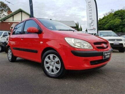 2006 Hyundai Getz TB Upgrade 1.6 Red 5 Speed Manual Hatchback Mount Hawthorn Vincent Area Preview