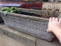 14 x stone plant troughs