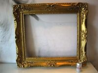 Beautiful Large Antique Ornate Gilt Gesso on Wood Victorian Oil Painting Frame