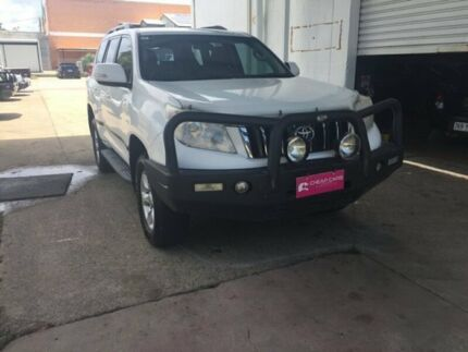 2009 Toyota Landcruiser Prado White Wagon Hermit Park Townsville City Preview