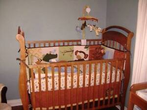 Maple Crib and change table