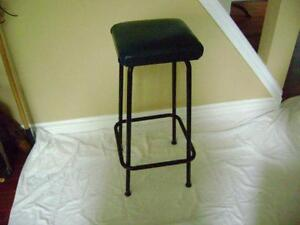Tall metal stool