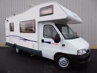 CI Carioca 656 (Fiat Ducato) 6 Berth Motor Home, 2.3 Diesel, Superb Low Mileage Example, New MOT