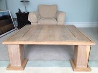 Oak,limed, veneer Bespoke Coffee table 110w x 110w x 40 cm high West London