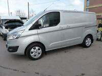 2016 FORD TRANSIT CUSTOM 270 LIMITED 2.2 TDCI 125 L1 H1 SWB IN METALLIC SILVER ,