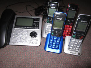 6 Panasonic or Vtech Home Phone Sets with Bluetooth/Link-to-Cell Kitchener / Waterloo Kitchener Area image 5