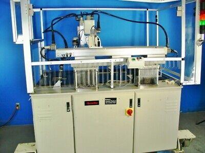 Adept Tabletop Scara Robotic Arm Work Cell Station Cincinnati Milacron Acramatic