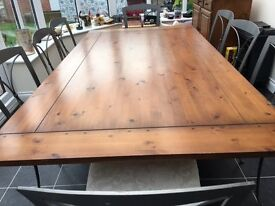 Ducal dining set: table; 8 chairs; side cupboard