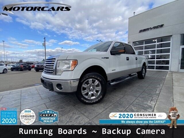 2011 Ford F-150 XLT 110,513 Miles Oxford White Crew Cab Pickup Turbocharged Gas