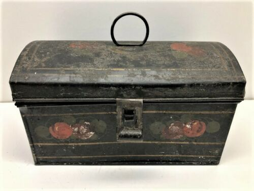 New England Decorated Toleware Document Box