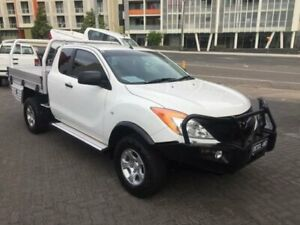 2013 Mazda BT-50 MY13 XT (4x4) White 6 Speed Manual Freestyle Cab Chassis North Strathfield Canada Bay Area Preview