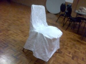 High-Quality White Satin Chair Covers W/Laces- Excellent Shape!! Kitchener / Waterloo Kitchener Area image 2