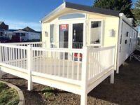 Cheap Luxury Static Caravan for sale on beach plot, Sea views, dog friendly, coastal, decking inc