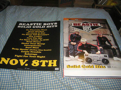BEASTIE BOYS-(solid gold hits)-1 POSTER-2 SIDED-11X15-NMINT-RARE