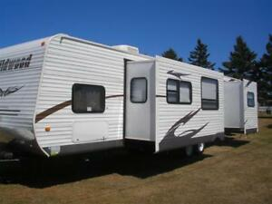 Travel Trailer for Rent at Marco Polo Land in Cavendish