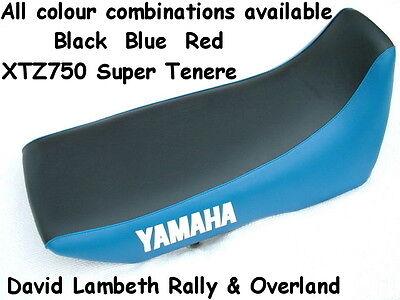 <em>YAMAHA</em> XTZ750 SUPER TENERE SEAT COVER SITZBEZUG TWO TONE REDBLACK OR