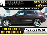 2012 Mercedes GLK350 4Matic $229 bi-weekly APPLY NOW DRIVE NOW