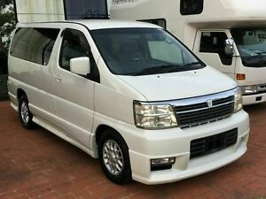 2001 Nissan Elgrand E50 Special Edition White 4 Speed Automatic Wagon Taren Point Sutherland Area Preview