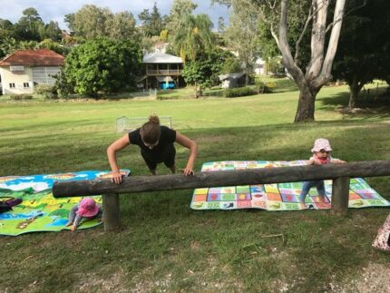 Child friendly outdoor fitness classes for mums
