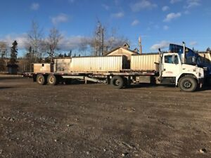 2004 FL80 Freightliner Truck and Trailer